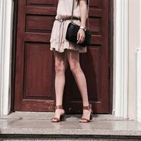 שמלת שיפון פודרה