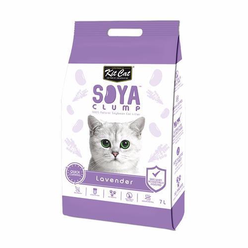 חול מתגבש לחתול על בסיס סויה בריח לבנדר 7 ליטר