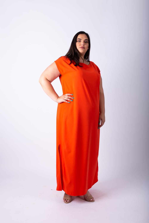 שמלת מוניק כתומה