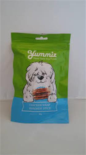 יאמיז חטיף לכלב לעסניות מצופות עוף 80 גרם