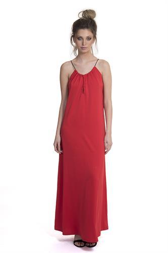שמלה מוניק אדום