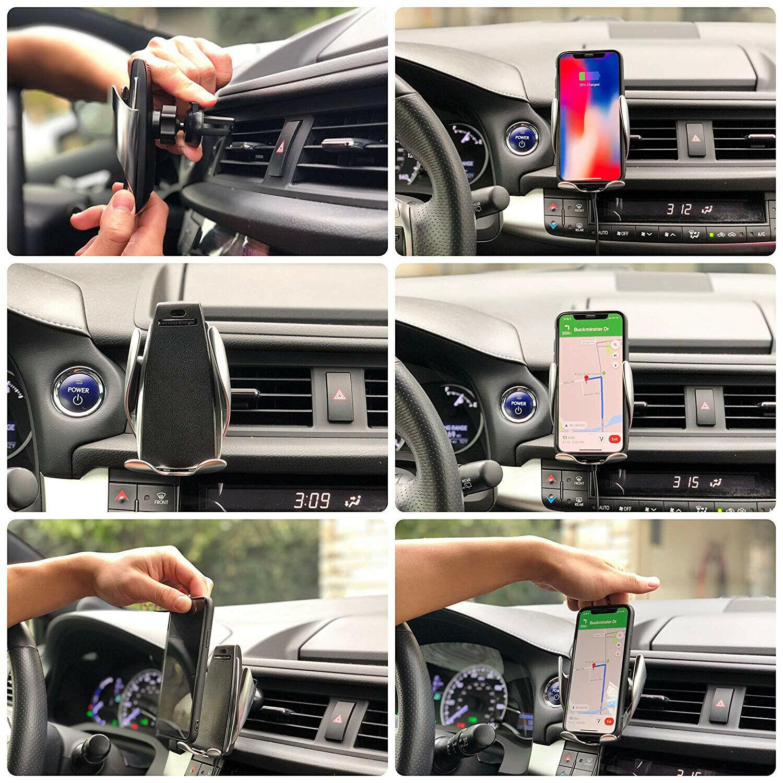 מתקן אוטומטי לפלאפון לרכב עם טעינה אלחוטית