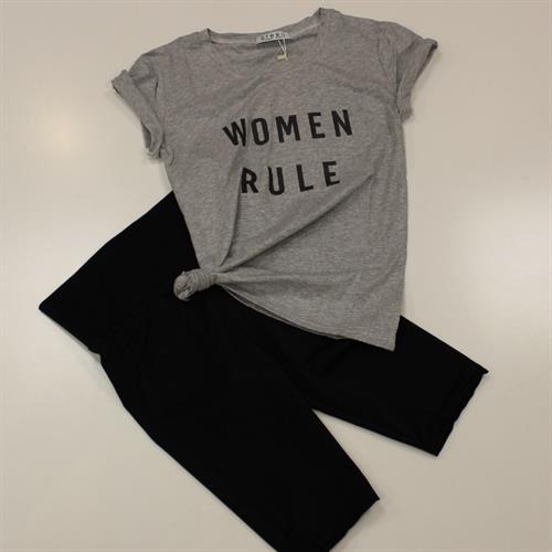 חולצה נשים דפוס W.R אפור