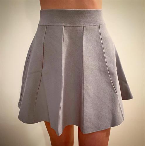 חצאית קלוש סריג - אפורה