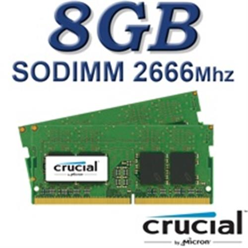 זיכרון למחשב נייד 8GB 2666Mhz Crucial CT8G4SFS8266