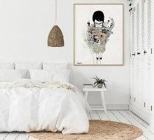 הדפס מיוחד של אישה לחדר שינה