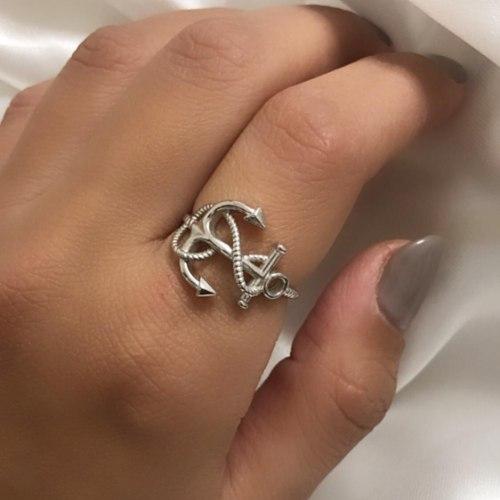 טבעת עוגן כסף 925