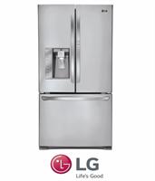 LG מקרר 3 דלתות door in door + קיוסק דגם: GR-J31DID נירוסטה מוברשת