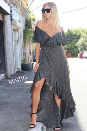 שמלת וולנים שחור MAZIG