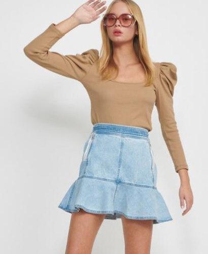 חצאית דקוטה ג'ינס בהיר