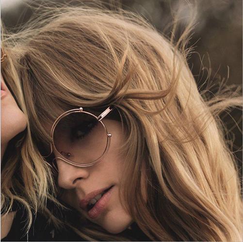משקפי שמש צילינדר וינטג' קלאסיות יוניסקס בצבעים אופנתיים