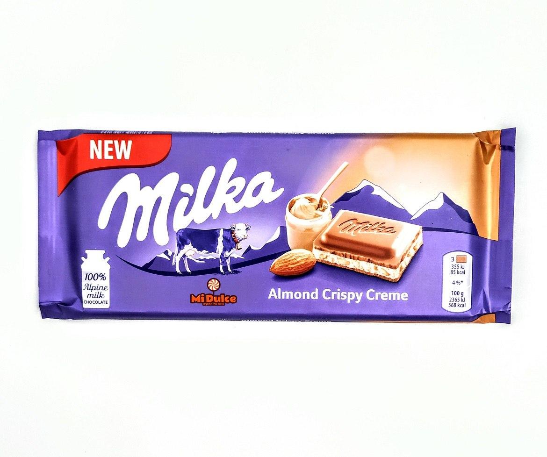 Milka קרם שקדים
