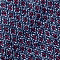 עניבה בהדפס פרח אדום על אפור