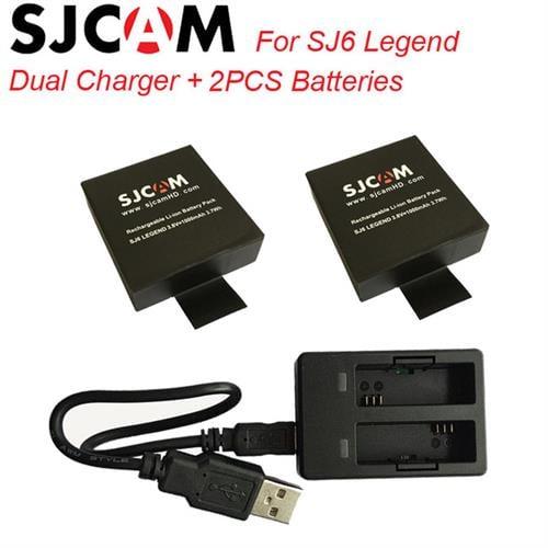 מטען ו 2 סוללות מקוריות ל SJCAM SJ6 Legend
