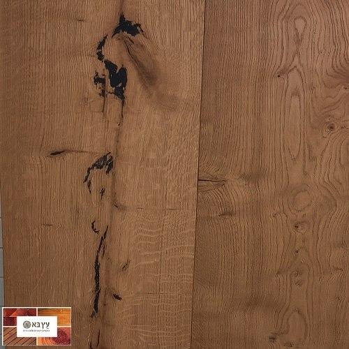 פרקט עץ אלון גמר לכה מעושן רחב במיוחד, דגם  AM-15, דאליאן Dalian Amuer