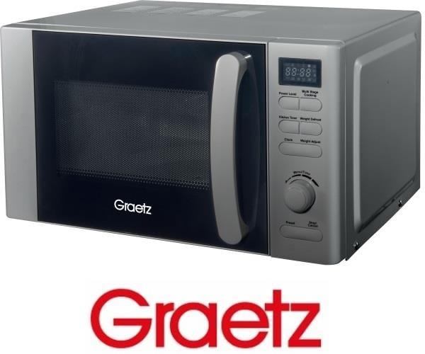 Graetz מיקרוגל דיגיטלי 20 ליטר כסוף דגם MW-361