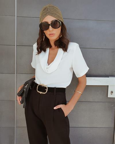 חולצת לינדה - לבנה
