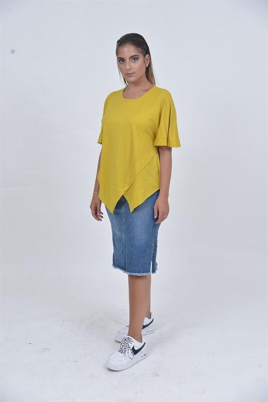 חולצת כוכב צהוב OVER SIZE