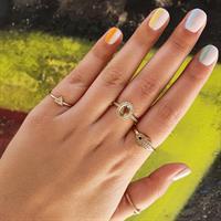 טבעת זהב שני יפהפייה משובצת יהלומים ואבן חן טורמלין