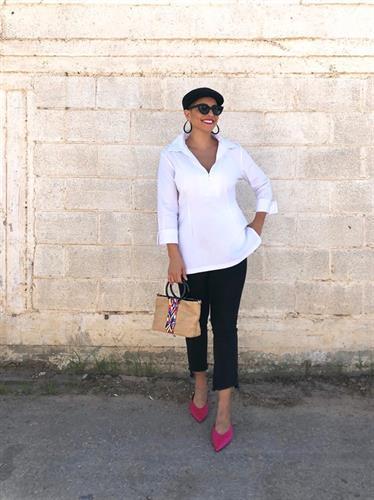חולצה ויאולה לבנה