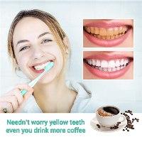 אבקת פנינים להלבנת שיניים מכתמי קפה ועששת