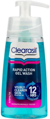 Clearasil ג'ל רחצה לפנים לפעולה מהירה מפחית עודפי שומן 150 מל