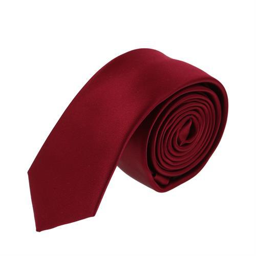 עניבה חלקה אדום יין