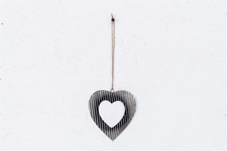 לב פח גלי - כסוף ראסטי