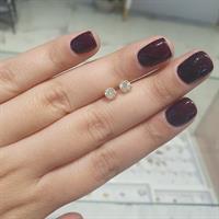 עגילי יהלומים צמודים לאוזן 0.80 קרט