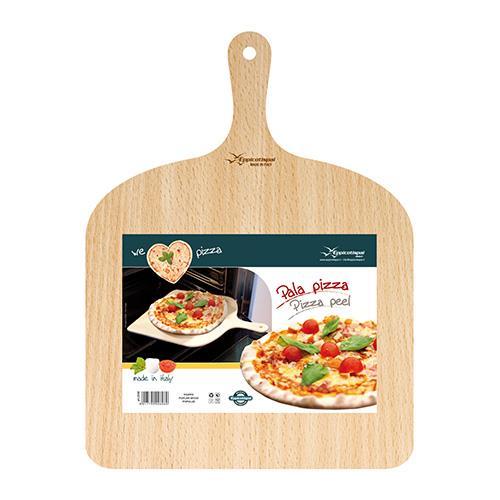 """מגש להכנת פיצה מעץ 30*30 ס""""מ"""
