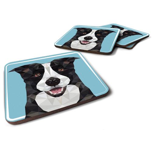 תחתיות לכוסות | כלב מחייך
