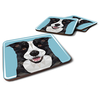 תחתיות לכוסות   כלב מחייך