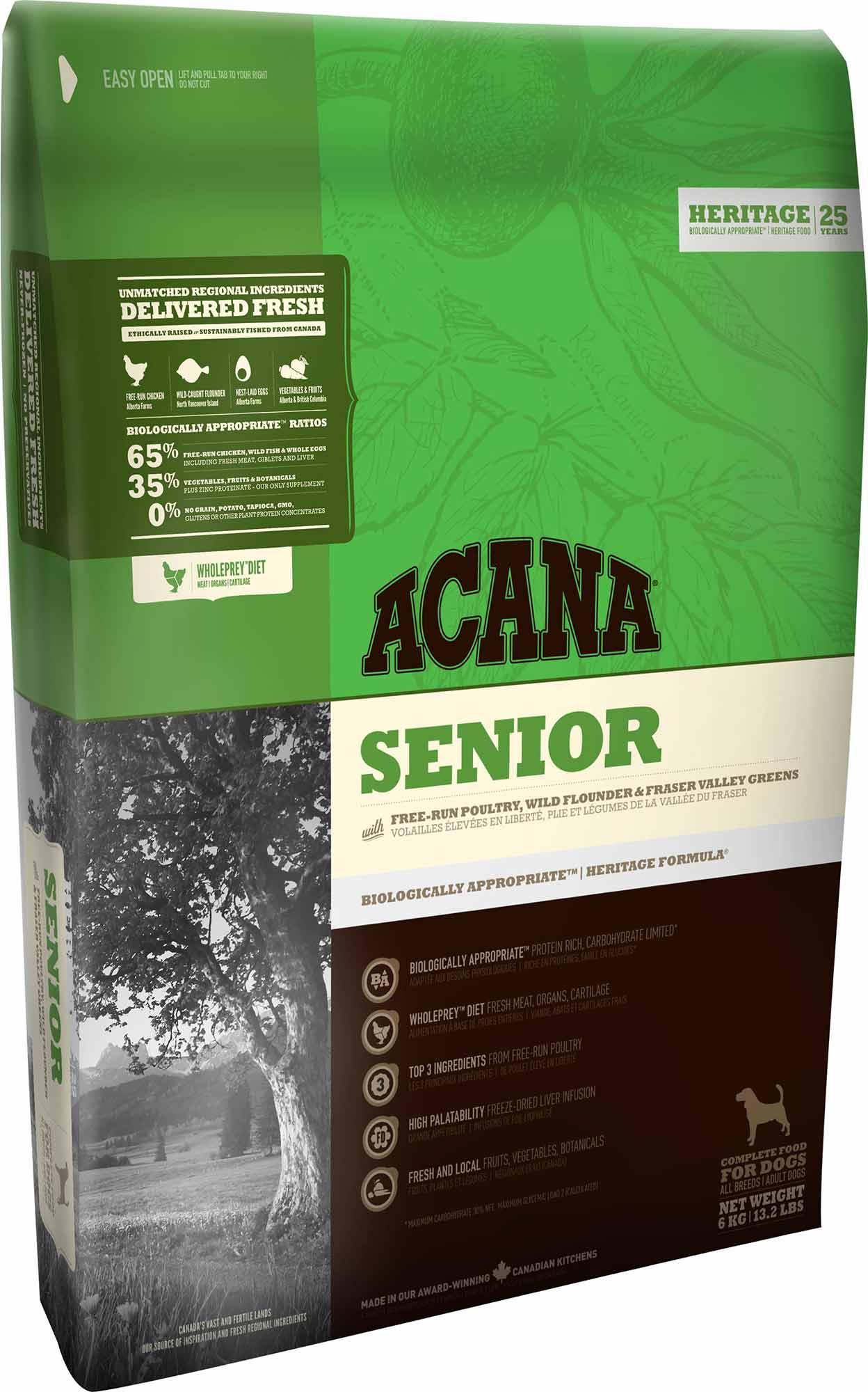 "acana senior סניור 6 ק""ג"