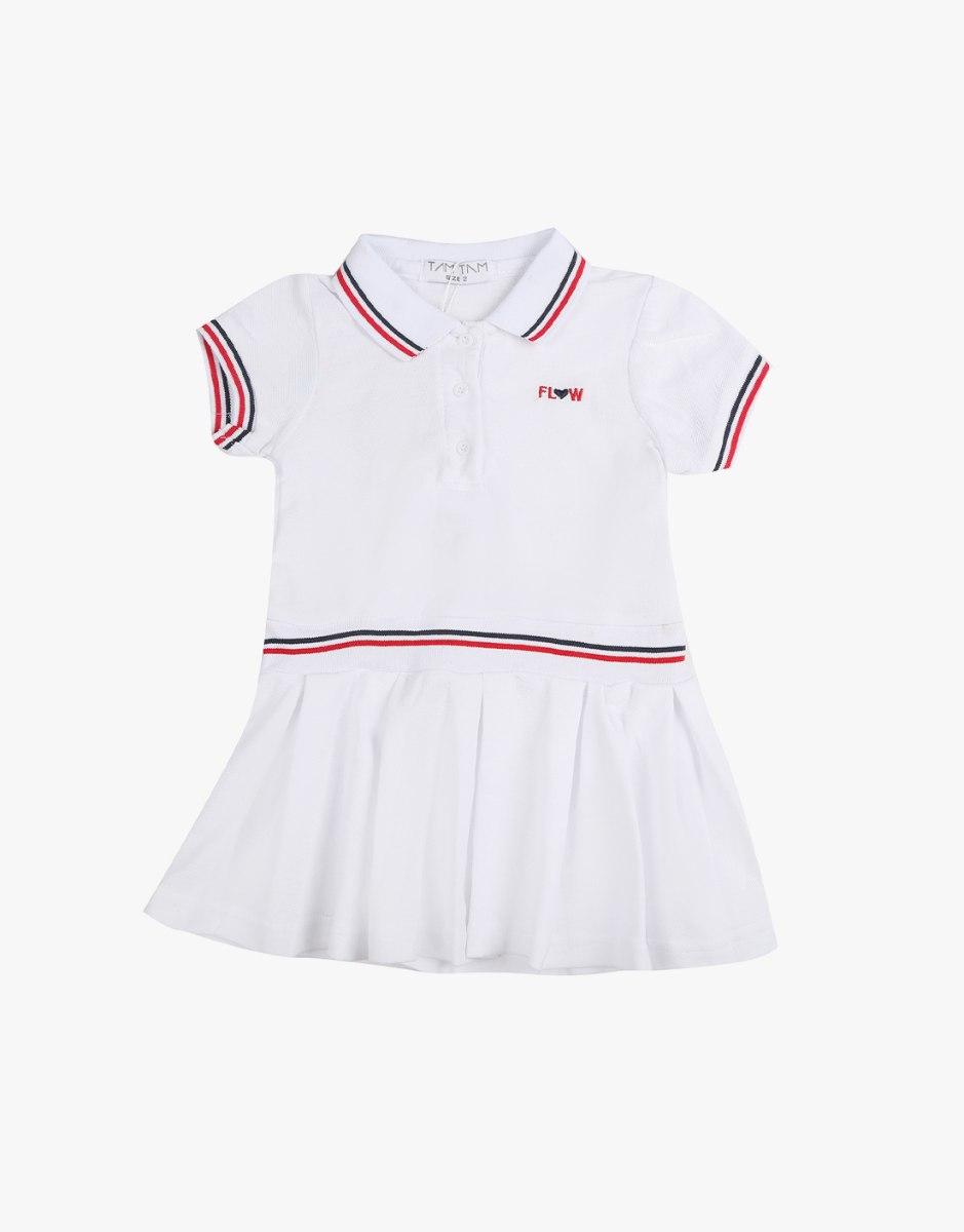 שמלה לבנות עם צווארון לתינוקות