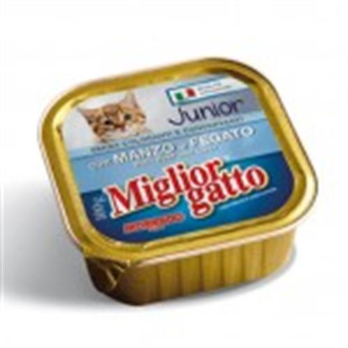 מעדן מיגליאור לחתול בטעם בקר וכבד 100 גרם