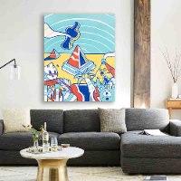 ציור מקורי לעיצוב הבית של האמן כפיר תג'ר