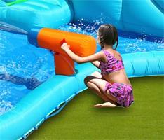מתקן קפיצה ומים מגלשת המים קרוקודיל הפי הופ - 9517 - The Crocodile Water Slide Happy Hop +סולם טיפוס