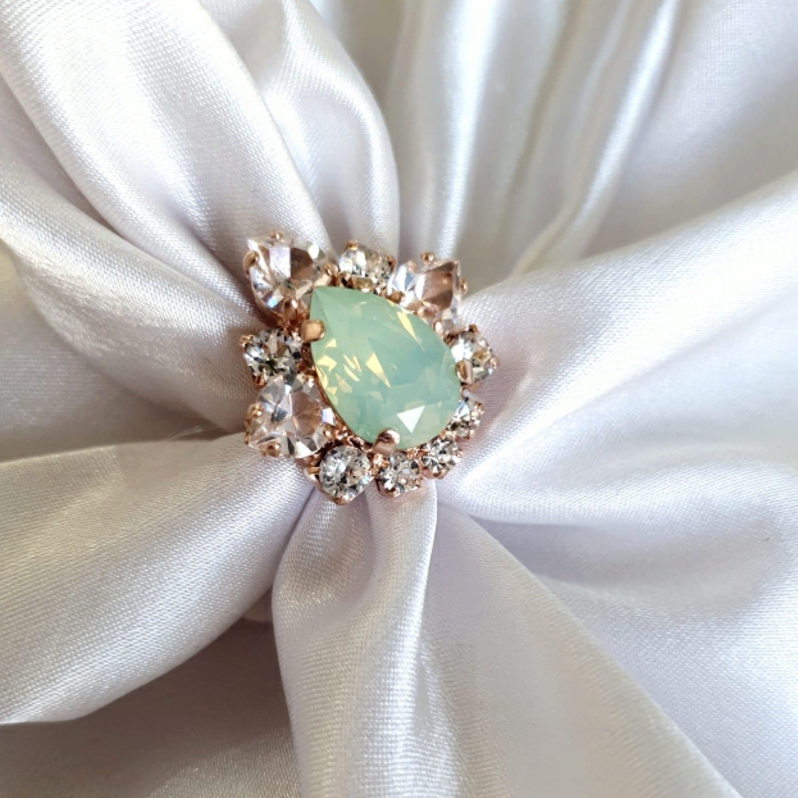 טבעת מרי- תכלת זהב אדום