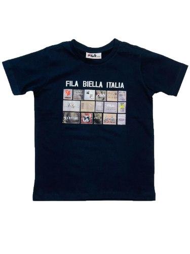 טישירט FILA מודפס כחול 10-16