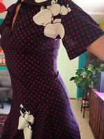 שמלת וינטג' בגזרה קלאסית ושרוולי פעמון מידה M/L