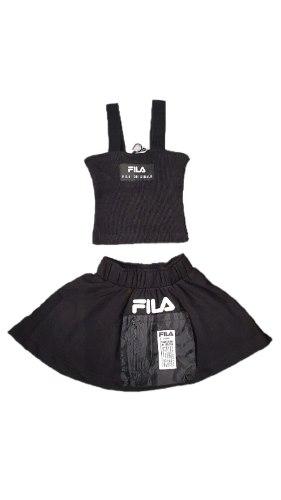 חליפת חצאית בשילוב גופיית ריב (FILA (6-16