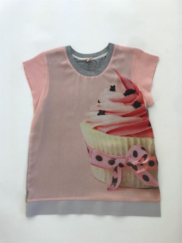 חולצת משי הדפס MARCCAIN