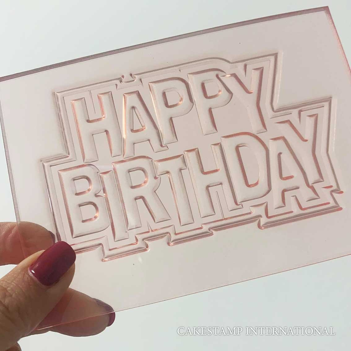 2021 HAPPY BIRTHDAY TEXT Cake Topper  Mold | Flexible Polymer Mold | Chocolate Mold