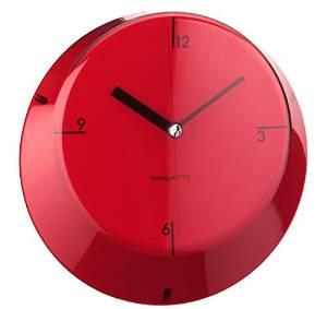 שעון קיר GLAMOUR אדום