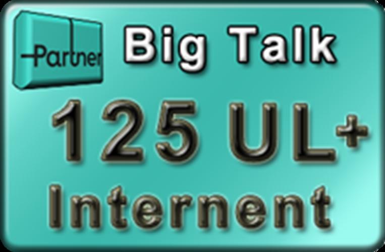 """ביגטוק תיירים 125 ₪ מקנה 1500 דקות והודעות בישראל, 25 ₪ לשימוש לחו""""ל וגלישה 4GB ₪125"""