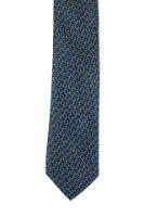 עניבה בהדפס פרח כתום על רקע כחול