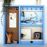 ארון למפתחות דגם ציפורים כחול