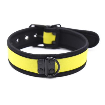 קולר לצוואר גבר בצבע צהוב איכותי BDSM