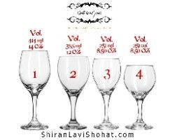 זוג כוסות יין עם חריטה |מתנה בשפה הרוסית