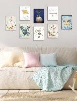 שמיניית תמונות השראה לחדר תינוקות וילדים דגם 818